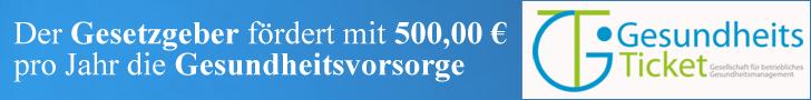 Der Gesetzgeber fördert mit 500,00 € pro Jahr die Gesundheitsvorsorge